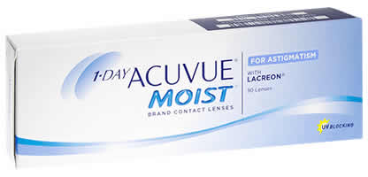 1 day Acuvue Moist for Astigmatism Lentilles de Contact