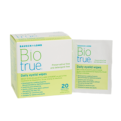 Biotrue Daily Eyelid Wipes - Lingettes