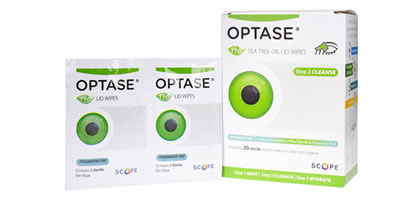 Optase Tea Tree Oil Lid Wipes Pack de 20